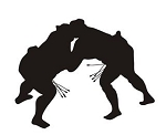 Sumo Wrestler Silhouette v5 Decal Sticker